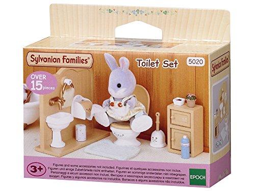 Sylvanian Families - Le Village - L'ensemble Toilettes - 5020 - Meubles et Accessoires Poupée - Mini Poupées