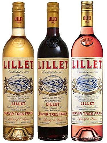 Lillet Mischset Blanc, Rose, Rouge Weinaperitif Frankreich 3 x 0,75 Liter