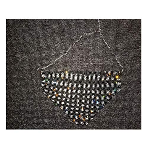 Veil Triangle Couverture Bijoux De Charme De La Chaîne Métallique Diamond Cospaly Cotillons Cadeau De Fête,Noir