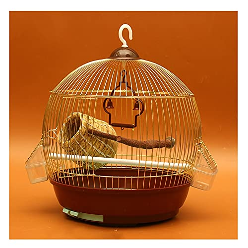 Kit gabbia per uccelli da volo Gabbia per uccelli Parrot Metal Bird Cage Grande acciaio inox Electroplating Starling Starling Myna Xuanfeng Peony Iron Parrot Cage Gabbie per uccelli da compagnia