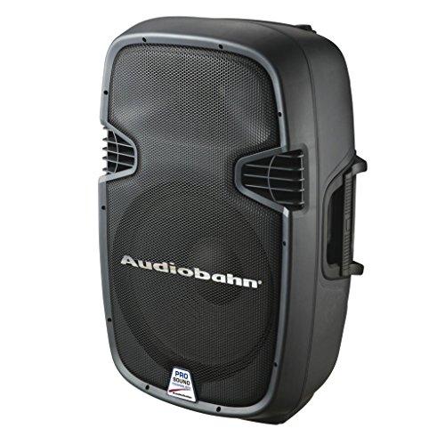 Audiobahn Bafle Amplificado de 8' Incluye Control Remoto y un micrófono alámbrico para tu máxima diversión