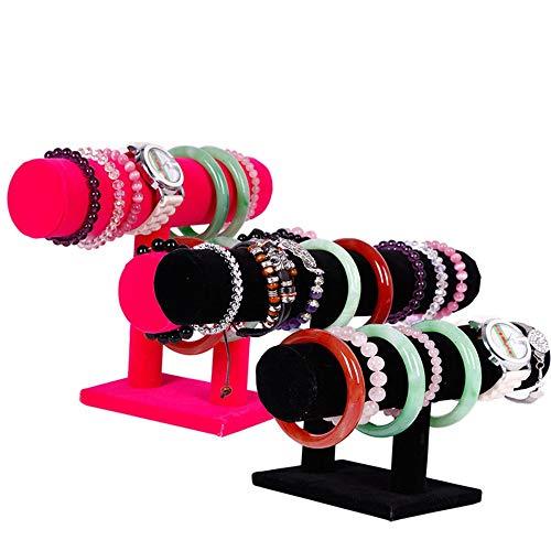 Necklace Storage Box Reloj de Pantalla Soporte Pulsera Joyas de exhibición Soporte Joyería Creativa Suede Pulsera de Doble Capa Soporte Jewelry Decoration Accessories