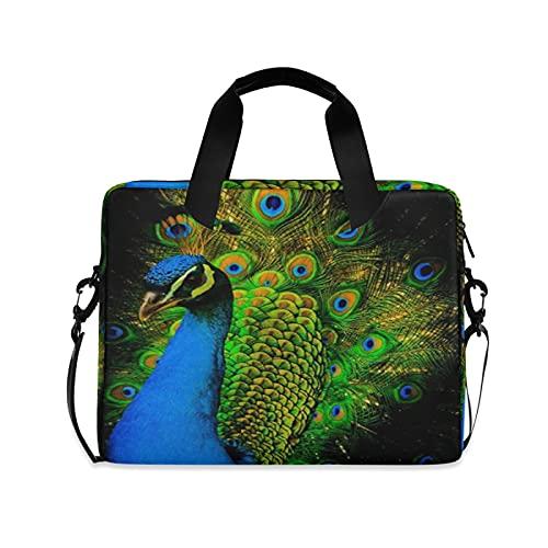 JNlover Ethnic Animal Bird Peacock Laptop Bag 16 inch, Portable Sleeve Briefcase Laptop Case Notebook Computer Carrying Case Bag for Women Men