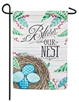 Meadow Creek Decorative Everyday Burlap Garden Flag - 12.5 x 18 (Bless This Nest) [並行輸入品]