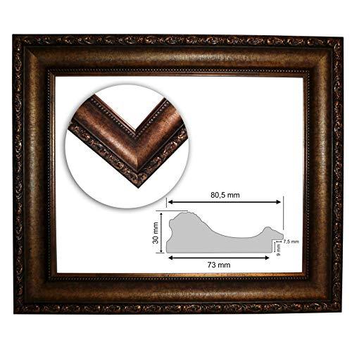 Barokke frame 10944, ARO oud goud fijn versierd, Serie 865, als op maat gesneden, lege lijst, wissellijst of spiegel 40x60 cm Snijden