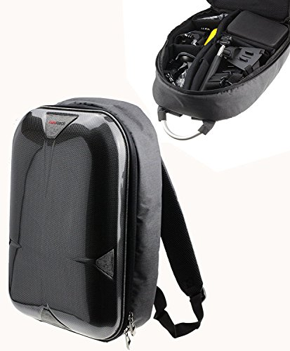 Navitech Hard Shell Action Camera Backpack/Rucksack/Case Compatible with The Bekhic V90 4K HD WiFi Sports Action Camera