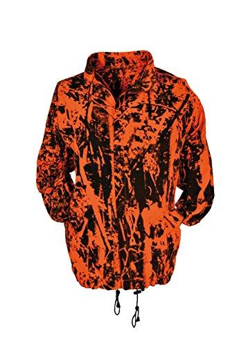 Hubertus Veste de chasse - Orange - Imperméable et respirante, Noir , L