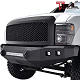 Tidal Replacement F250 Mesh Grille Black Front Hood Upper Grill Compatible with 08-10 F250/F350/F450 Super Duty