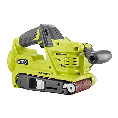 Product Image of the Ryobi P450 One+ 18V Lithium Ion 3 x 18 inch Brushless Belt Sander w/ Dust Bag and Included Sanding Pad (Battery Not Included, Tool Only)