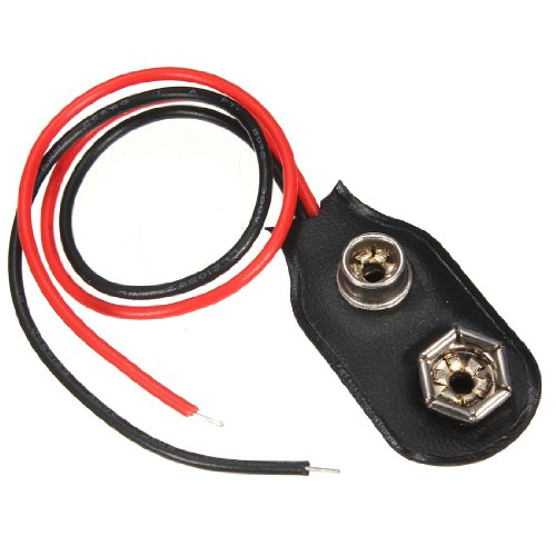 Conector acoplador de conexión de cables a pila, 9 V
