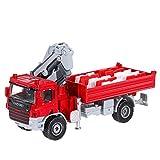 GoolRC 1/50 échelle modèle Voiture Camion de Transport avec Grue 12 pièces trafic divisé Blocs réaliste Voiture Jouet ingénierie pour Filles garçons
