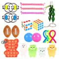 Colmanda Juguetes Sensoriales, Kit de Juguetes Antiestrés, Juguetes sensoriales para el Autismo, Alivio del Estrés para Niños y Adultos, Alivia el Estrés y la Ansiedad Fidget Toy(color) de