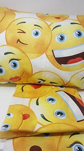 lenzuola irge singolo Irge Alfionapoli Completo Lenzuola Letto Singolo Stampa faccine Emoji