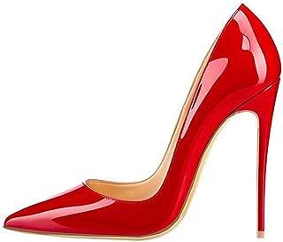 red stiletto pumps