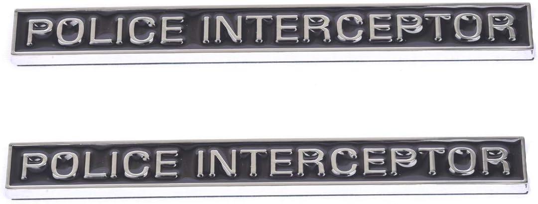 Amazon Com 2 Emblemas De Interceptor De Policía Emblema 3d Para Maletero Calcomanía De Repuesto Para Accesorios De Coche Explorer Automotive