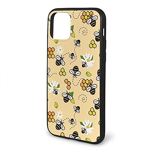 Inner-shop Compatibel voor iPhone 11 Hoesje Bijen Honing en Kamiles Anti-Scratch Schokbestendig en Anti-Drop Bescherming TPU Hoesje