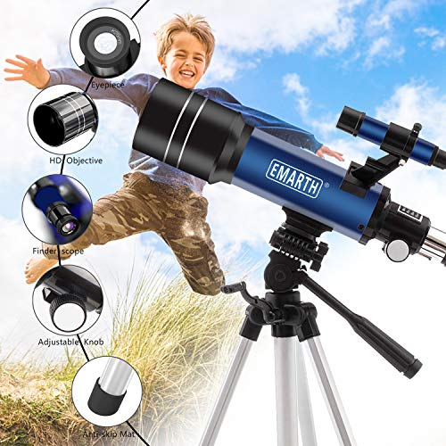 Emarth Telescope, 70mm/360mm Astronomical Refracter Telescope with...
