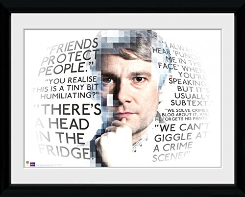 1art1 Sherlock - Watson Quotes Gerahmtes Bild Mit Edlem Passepartout | Wand-Bilder | Kunstdruck Poster Im Bilderrahmen 40 x 30 cm