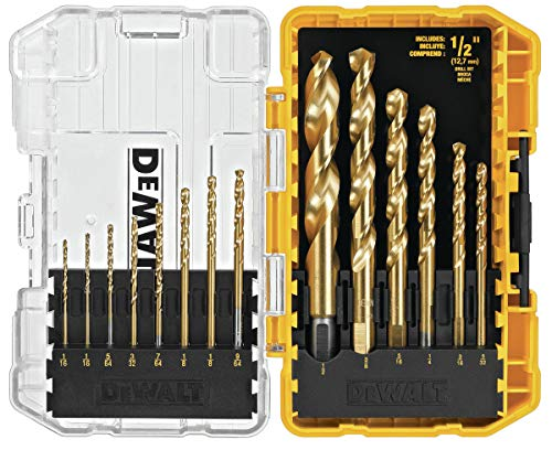 14-Piece DeWalt DW1341 Titanium Drill Bit Set  $15 at Amazon