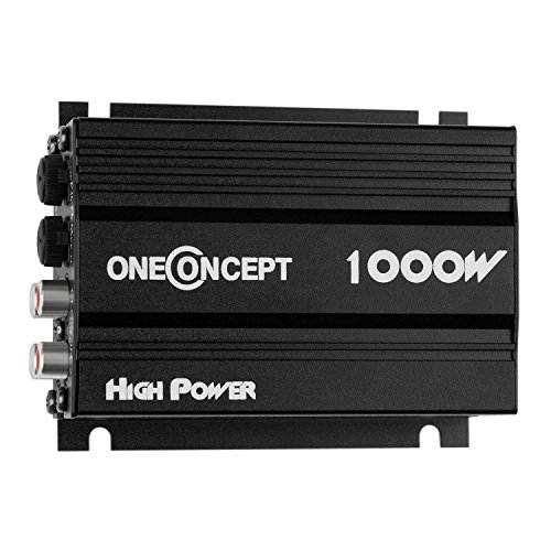 oneConcept A4 - Car HiFi Verstärker, 4-Kanal Auto-Endstufe, Car Amplifier, 4 x 30 Watt RMS-Leistung, Hoch- und Tiefpass-Filter, Frequenzgang: 20 Hz bis 20 kHz, schwarz