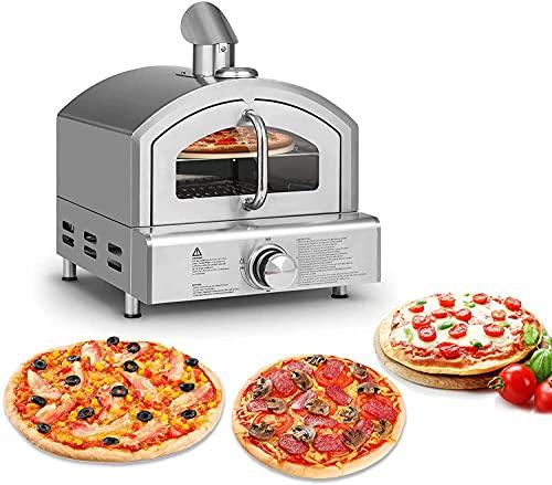 Forni per pizza da esterno, Forno per pizza a gas, Forno per pizza con indicatore di temperatura per barbecue a gas, portatile, forno per pizza da giardino