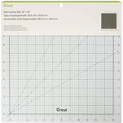 Cricut PC2004716 Selbstheilende Matte, x 12 Self Healing Mat Blue 12x12, Multicolour, one size
