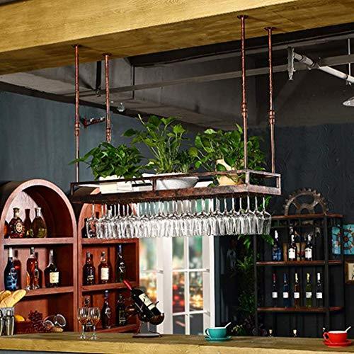 Grape Cups Rangement Organisateur à l'envers Suspendu Grand Organisateur en métal Barre de Hauteur réglable Kitchen Club Universal Contient Tout Type de Verres à Pied Verres à vin