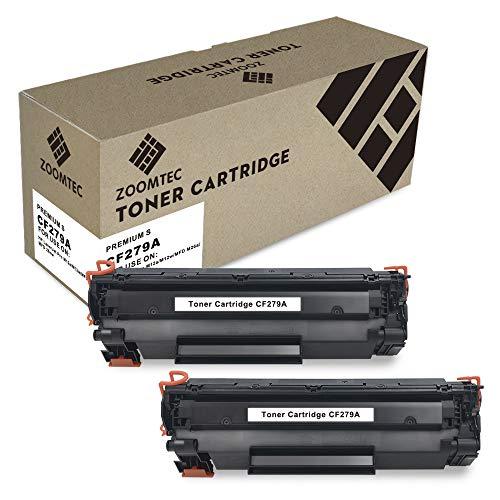 ZOOMTEC 79A CF279A Cartucho de Toner Compatible para HP Laserjet Pro M12a M12w MFP M26a M26nw (2 Negro)