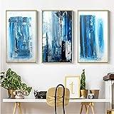 WEDSA Lienzo Pintura Mural Pintura al óleo Abstracta Imprimir Imagen Arte de la Pared Lienzos Pinturas Decoración para Sala de Estar Sin Marco 40x60cmx3 Sin Marco