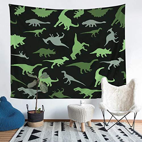 Loussiesd - Manta de pared con diseño de dinosaurio para niños, diseño de animales de la selva, color negro, talla XLarge