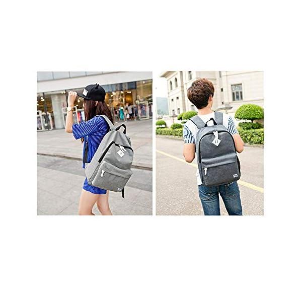 51wK7MM2 dL. SS600  - Danny®Bolsas escolares 300D mochila Nylon impermeable ocio para juventud niñas y niños Casual mochila para Senior secundaria bandolera estudiante Laptop mochila con funda de Notebook de14pulgadas Gris