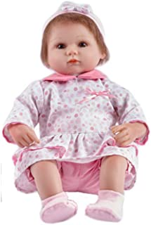 JTYX DOLLS Simulation Baby Cloth Body Soft Silicone Reborn Doll Brown Eyes Short Yellow Hair Cute Girl Realistic Doll Children Birthday Gift Toys (Not Washable),Color1,42cm