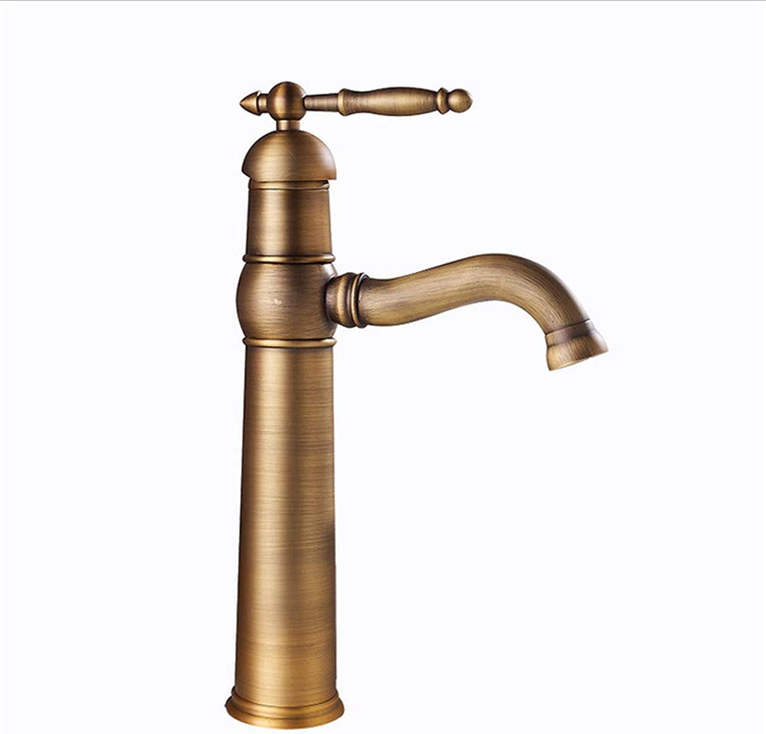 Oudan Bathroom Sink Taps ?Antique Kitchen Faucet Copper Brushed European Kitchen Hot And Cold Water Mixer Hotel Bathroom Basin Faucet (color   -, Size   -)