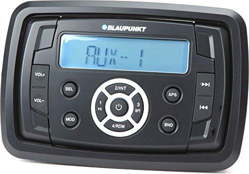 Blaupunkt Capri 220 Radio/USB MP3/FM-AM tuner/Rear-Aux/RMS 4x25 W/12 V/waterbescherming vochtstandaard stabiliteitsstandaard conform IP 66/zout, ASTM (B 117/UV, D 4329) voor maritiem gebruik boten