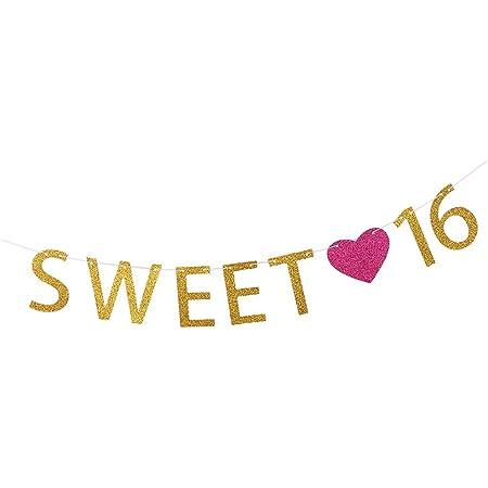 Wimpelkette Sweet 16