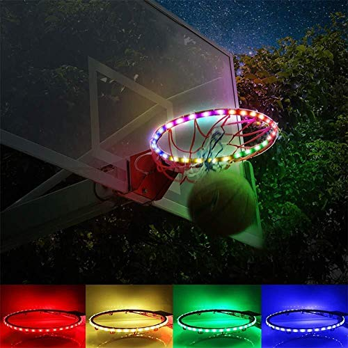 ASPORT LED Basketballkorb Lichter, leuchten Basketball Rim LED Light Swish, Indoor/Outdoor Basketballkorb, Basketballnetz Hoop Lighting System