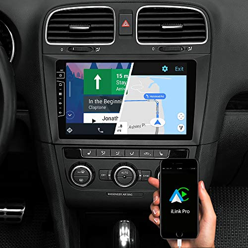 DYNAVIN Autoradio Navi für VW Golf 6, 9 Zoll OEM Radio mit Bluetooth, inkl. DAB+, USB, Kompatibel mit Carplay und Android Auto: DIX-V-DF31 Flex