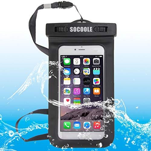 SOCOOLE WPC-003 Bolsa Impermeable Universal para iPhone 6 y 6s, Samsung S6 / Note 4 / Note 3 / Note 2, etc. Los teléfonos Inteligentes de 6.0 Pulgadas, IPX8 Certified (Negro) (Color : Black)