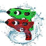 KATELUO Pistola de Agua,2 Pack Pistolas de Agua para Niños, Juguete de Verano para Playa,Pistola de Agua de 180 ml, Alcance de 5 Metros, Adecuado para niños y Adultos Juegos de Agua y Playa