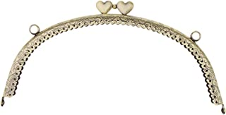 Baoblaze Antique Brass Curved Heart Kiss Clasp Frame Coin Purse Shoulder Bag Accessories