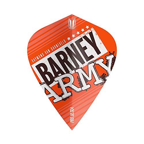 Target Dartpfeile Barney Army Flight – 3 Stück, Unisex, 334280, Orange, No.2
