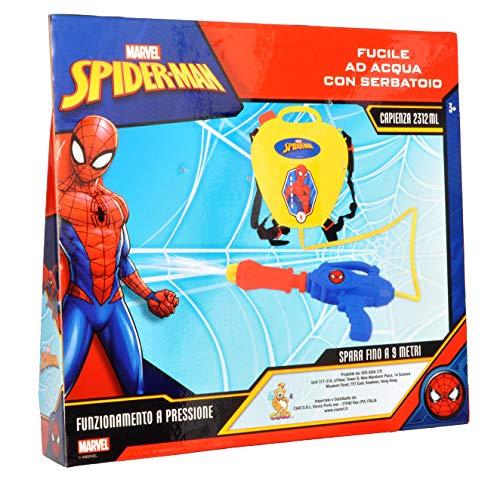 Ciao Pistola acqua, Colore Spider-man, Fucile 37 cm con serbatoio, E7106