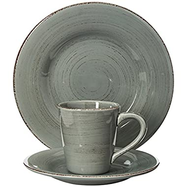 tag - Sonoma 16-Piece Ironstone Ceramic Dinner Set, A Stylish Way to Bring Bold Color to Your Table, Slate Blue