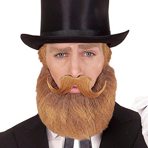 NET TOYS Barba bionda con Baffi | Barba Finta per Costume Nobile | Accessorio per Gentiluomo | Barba per Carnevale