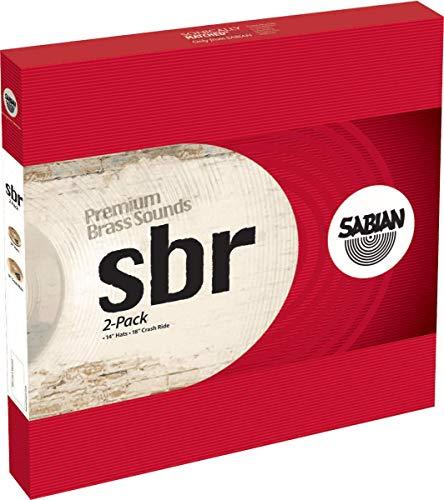"Price comparison product image Sabian Cymbals SBR5002 SBR 2-Pack 14"" Hi hats,  18"" Crash / Ride"