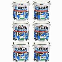 アサヒペン 道路床用塗料セーフティーゾーン用 4KG ブルー 6缶セット