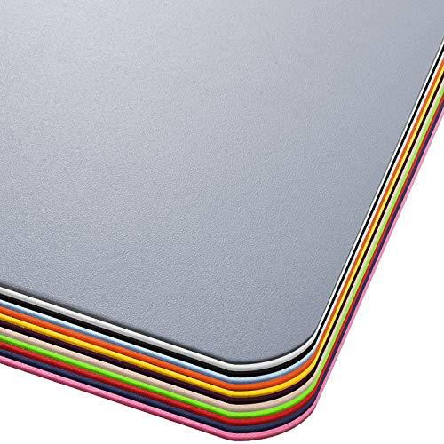 Office Marshal® Bodenschutzmatte in Trendfarben | 114 x 150 cm für Hartböden | ohne schädliche Weichmacher und PVC | Größe und viele Farben zur Auswahl (Grau)