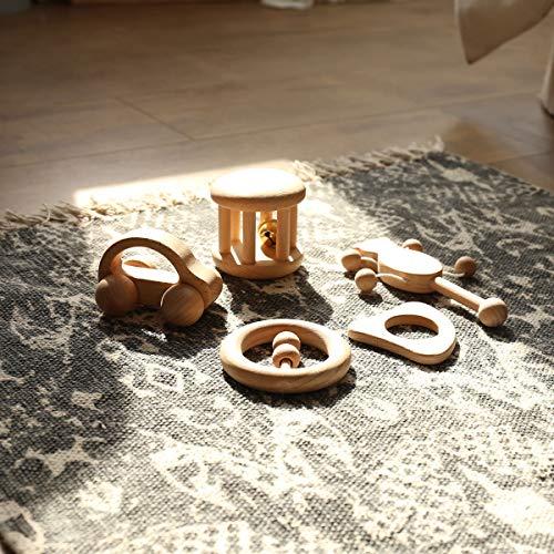 Set de 5 piezas - Sonajeros de Madera