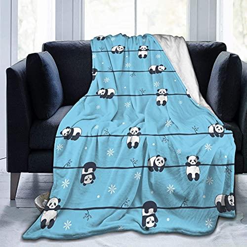 Manta de Felpa Suave Cama Diferentes Poses De Bebé Panda Manta Gruesa y Esponjosa Microfibra, Suave, Caliente, Transpirable para Hogar Sofá , Oficina, Viaje