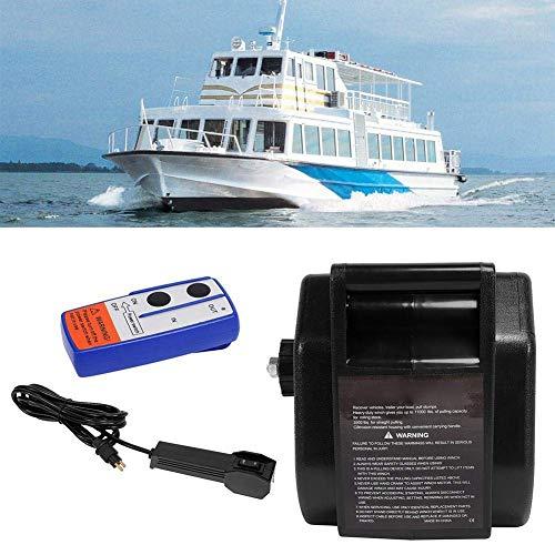 GOTOTOP 3500 lb Kit verricello Elettrico 12V 4990 kg con argano radiocomandato Cavo argano per Barca